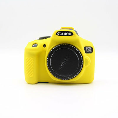 For Canon 1300D/1500D Silicone Rubber Protective Camera Body Cover Case Yellow