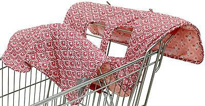 Coral Scallop 2-in-1 Shopping Cart and High Chair Cover - The Peanut Shell