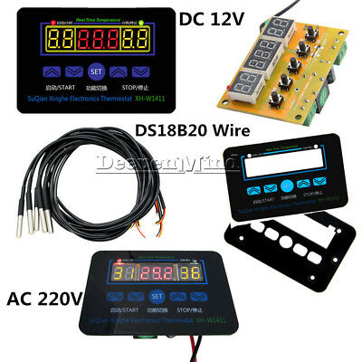 220V 12V XH-W1411 Digital LED Temperature Controller 10A Thermostat Switch+Probe