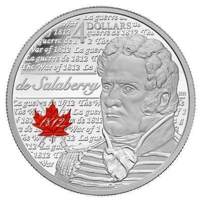 2013 Heroes of 1812 - Charles de Salaberry 1/4oz .9999 Silver Coin $4 - RCM