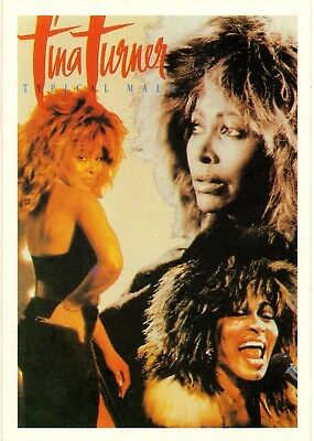 """Tina Turner-""""Typical Male"""" -1986 Publicity Postcard (Pop Card P18)"""