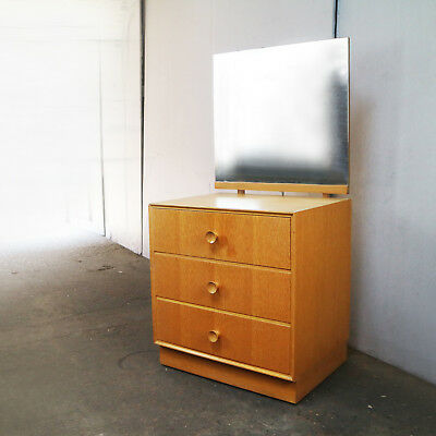 1970's mid century chest of drawers with angled mirror by Meredrew