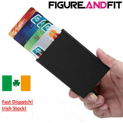 New Metal ID Credit Card Holder RFID Protector Aluminum Slider
