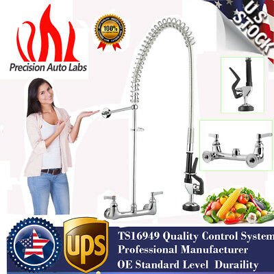 Pull Out Commercial Pre-Rinse Kitchen Faucet Sink Mixer Tap Wall Mounted MV