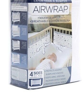 breathable AIRwrap mesh for cot. Excellent condition. Comes in box.
