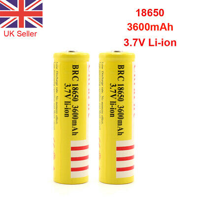 Protected 18650 Battery 3.7V 3600mAh BRC Rechargeable Li-ion Lithium Cells HQ