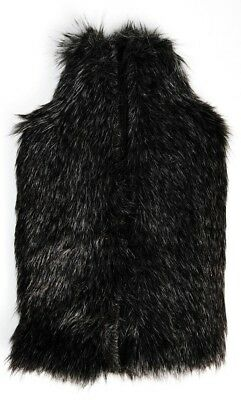 Luxurious Deluxe Mock Black Wolf Thick Faux Fur 2 Litre Hot Water Bottle & Cover