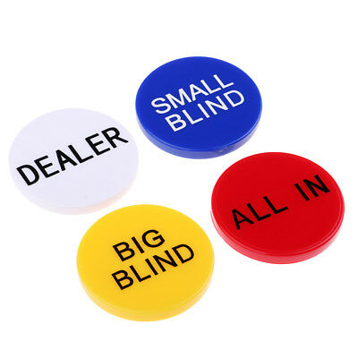 Big Little Blind All in Poker Chip and Dealer Button for Texas Hold'em Props