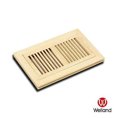 """Hickory Vent Flush Mount Wood 3/4"""" Floor Vent Cover - Unfinished WELLAND"""