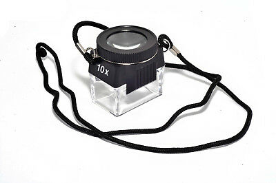 10x Loupe Quadrangle Magnifier Jeweler Negative Rectangle 10x Lupe
