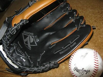 "Reliance Diamond 11.5"" Right Hand Throw Baseball Glove Cool Mesh Lined With Ball"