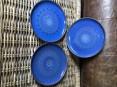 Denby Midnight Blue Salad Plates X 3