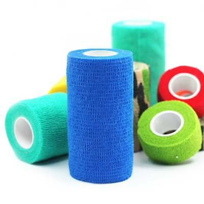 UK Pet Dog Cat Animal Vet Wound Cohesive Bandage Tape Elastic Self Adherent Wrap