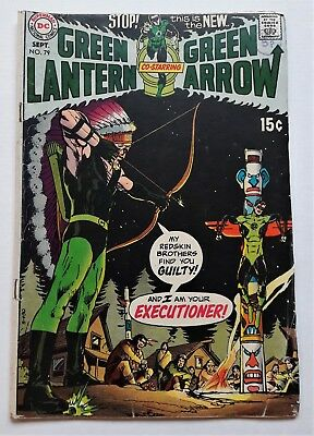 Green Lantern # 79 DC Comic 1970 Art By Neal Adams / Adkins FN- 5.5 Green Arrow