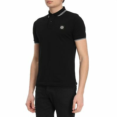 BNWT Polo Stone Island Cotton 100% Colore Nero originale 100%