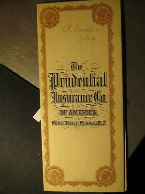 Prudential insurance co. policy from 1907