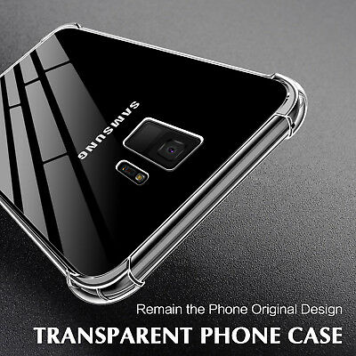 Shockproof TPU Bumper Clear Hard PC Back Case Cover for Samsung Galaxy S9 S8 S7