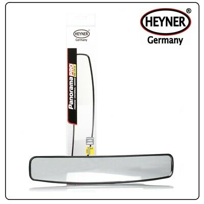 Rear view panoramic mirror WIDE ANGLE car van taxi 430mm large size EASY FIXING