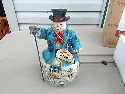 "Jim Shore ""Believe In Holiday Magic"" Snowman .....Pre Owned"