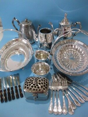 Very Nice Large Job Lot of Antique And Vintage Silver Plated Items Plus Cutlery