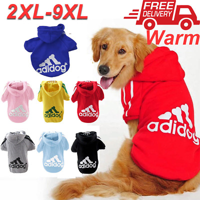 Dog Cat Puppy Sweater Hoodie Coat For Large Pet Warm Costume Apparel New XXL-9XL