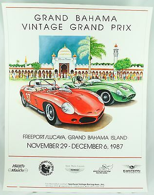 Grand Prix Bahama Vintage 1987 Illustration Race Sportscar Car Photo Poster