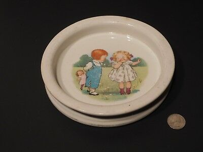Vintage Buffalo Pottery Baby Childs Dish Dolly Dingle Campbell Soup Kids