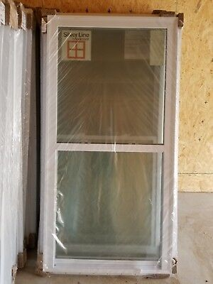 Lot of 20 New Single Hung vinyl windows- Silver Line by Andersen 3'x6'