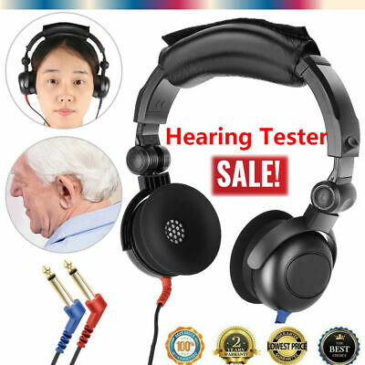 Hearing Conduction Headset Aids Headphone Earphone Audiometer for Hearing Test S