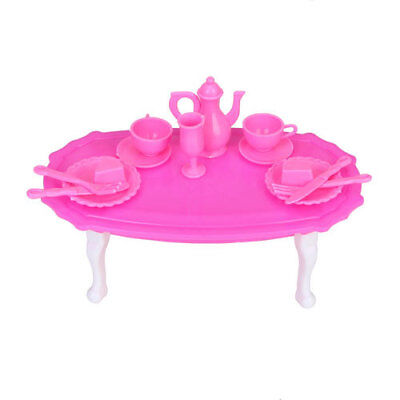 Dining Room Furniture Dining Table with Dining Wares Set for Barbie Doll