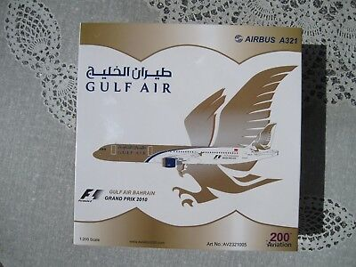 Hard to find - selten:  Aviation200 1:200 Airbus A321 Gulf Air A9C-ET