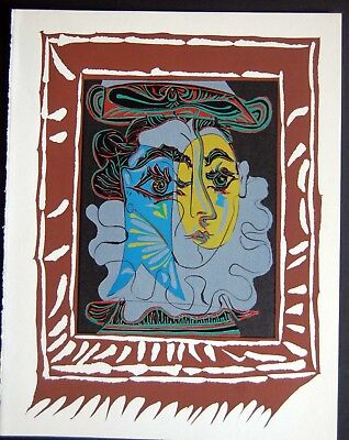 PABLO PICASSO  - Linoleo original 1966 - Edition Harry. h. Abrams