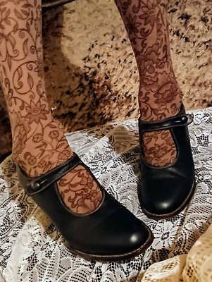 VINTAGE COUNTRY ROAD BLACK LEATHER MARY JANE BUTTON FASTENING SHOES Size 8.5 EUC