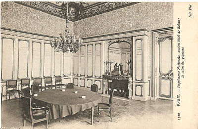 "carte postale Paris "" Imprimerie nationale salle des poinçons ""photo N.D, Vierge"