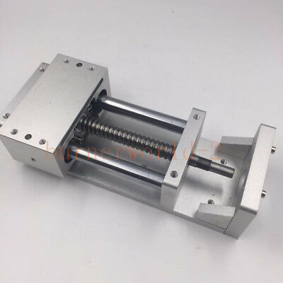 Linear Guide Stage Cross Slide Electric Sliding Table L-100mm Ballscrew Milling