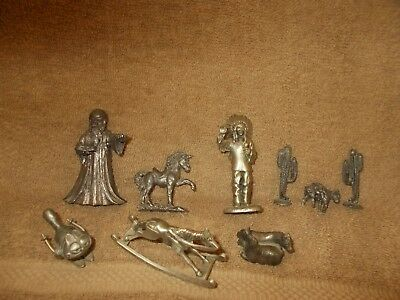 lot of pewter figurines