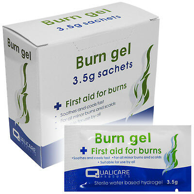 Qualicare 3.5g Burns Scalds Emergency First Aid Treatment Gel Sachets 25 Pack