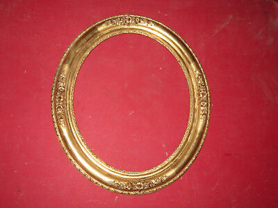 Frame Oval period 19th, Golden with Sheet