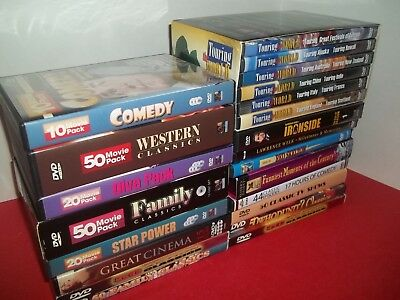 HUGE lot of DVDs 265 classic movies 204 TV episodes + many clips on 81 dvd's
