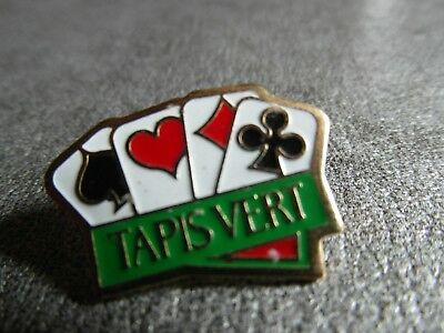 Rare Pins Pin's - Tapis Vert - Jeux - Poker - Cartes - Games - Ticket A Gratter