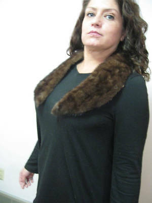 Vintage MINK Collar Real Fur Wear with Jeans or Business Suit See Details