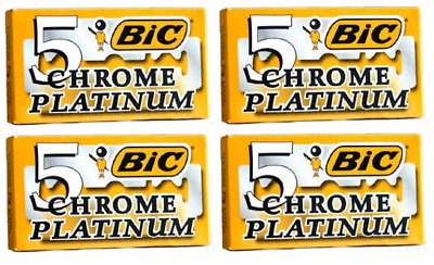 BIC CHROME PLATINUM Double Edge Safety Razor Blades 10 Ct + FREE ... 5901487b5852
