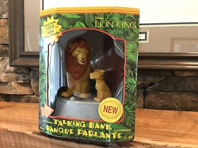 Disney The Lion King Electronic Talking Bank *new In Box*