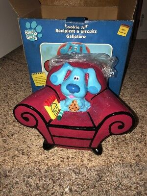 Blues Clues Cookie Jar Big Red Chair Canister Notebook Viacom 2001 Unused In Box