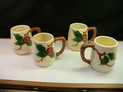 Set of 4 Vintage Franciscan Apple GRAND Large Mugs Coffee Cups