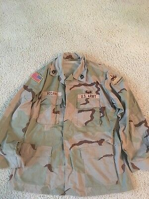 Desert BDU Shirt (DCU): 1st Armored Division: Size Large Long
