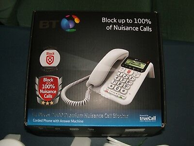 BT Decor 2600 Premium Nuisance Call Blocker Corded Phone With Answer Machine