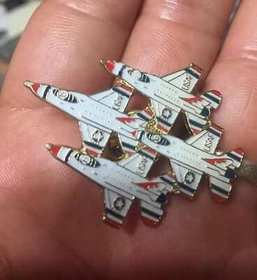 US AIR FORCE THUNDERBIRDS DIAMOND Formation PIN USAF