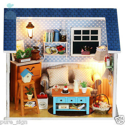 DIY Handcraft Miniature Project Kit Our Old Living Room Wooden Dolls House