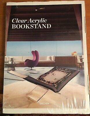 Taschen Clear Acrylic Bookstand Book holder BRAND NEW IN SHRINK WRAPPED